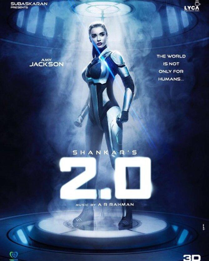 Amy Jackson 2pointO Movie Poster